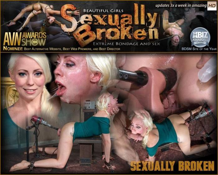 Lorelei Lee, Bondage Legend, bound with a fucking machine in her ASS, while getting throat blasted! (SexuallyBroken) HD 720p