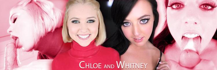 Whitney Wright, Chloe Couture - Blowjob and Handjob / 16 Dec 2016 [AmateurAllure / SD]