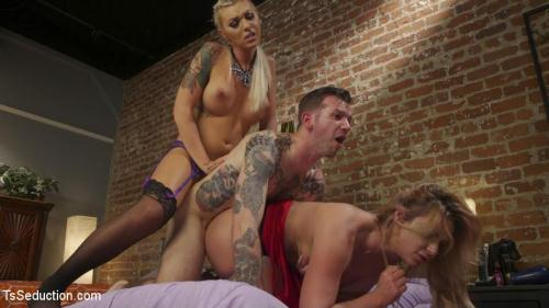 Aubrey Kate - Phoenix Marie's TS Threesome: What does she have that I don't have? [HD, 720p] [TSS3duct10n.com]