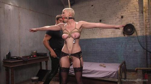 Riley Nixon - Slave Training Gorgeous Newbie: Riley Nixon [HD, 720p] [Th3Tr41n1ng0f0.com / Kink.com]