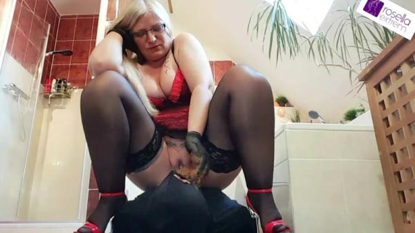 Record-breaking mega shit sausage for the next slave mouth! part 3 - Femdom Scat (FullHD 1080p)