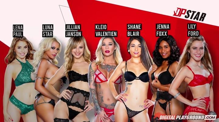 Kleio Valentien, Lily Ford, Jillian Janson, Luna Star, Shane Blair, Lena Paul, Jenna Foxx - DP Star 3 Audition: Episode 3 / 19.12.2016 [DigitalPlayground / SD]
