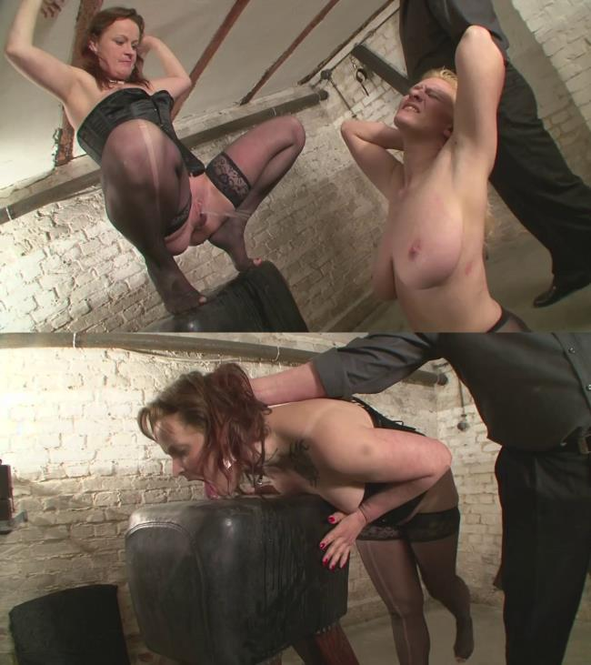 Painful torture for the novice slave girls Candy and Valerie Pt.4 [720p]