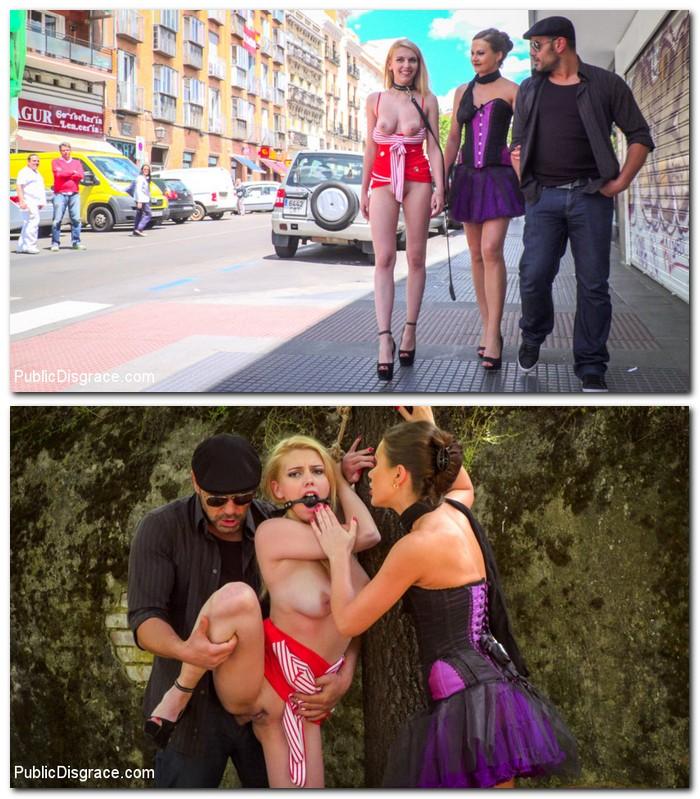 PublicDisgrace/Kink: Tina Kay, Daniela Dadivoso - Gorgeous Anal Whore Gets Public DP!!!  [SD 540p] (671 MiB)