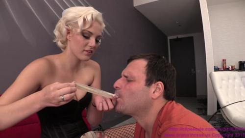 Cuckold Fed Condoms Full of Cum then Given a Choice [FullHD, 1080p] [BratPrincess.us]