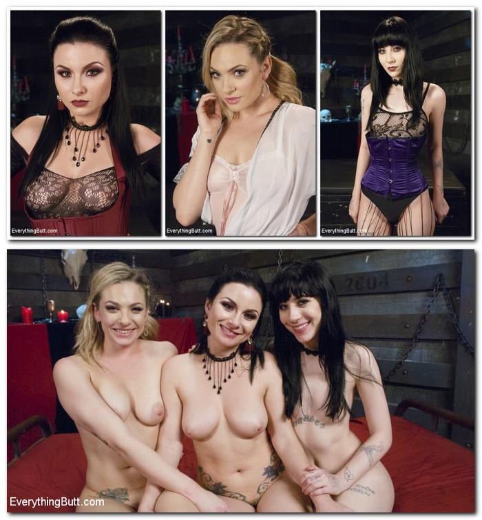 EveryThingButt/Kink: Charlotte Sartre, Veruca James, Dahlia Sky - Lesbian Anal Vampires: Were here to suck your butt  [SD 540p] (707 MiB)