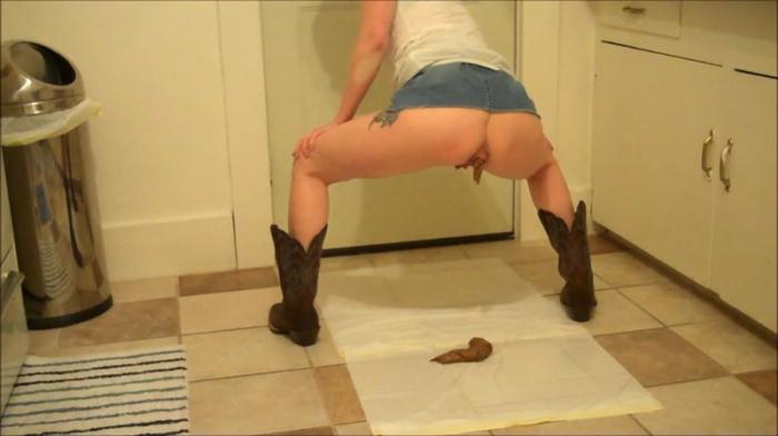 Poo And Pee In My Cowboy Boots - Solo Scat (Scat Porn) FullHD 1080p