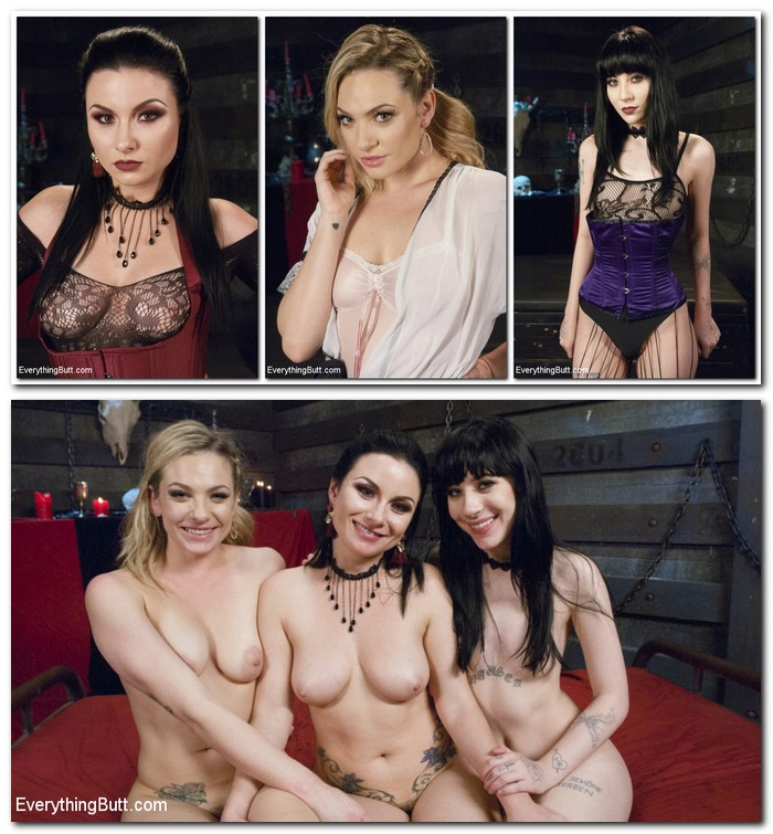 EveryThingButt/Kink: Charlotte Sartre, Veruca James, Dahlia Sky - Lesbian Anal Vampires: Were here to suck your butt  [SD 540p]  (BDSM)