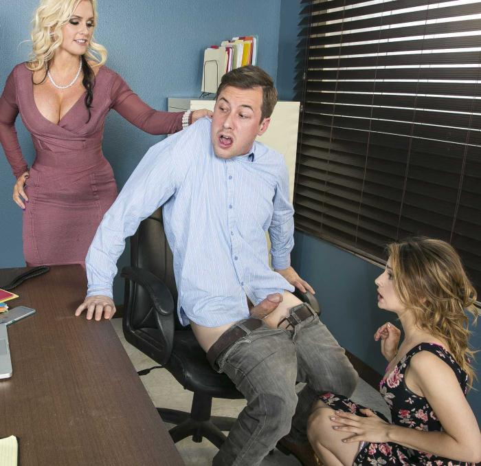 MomsInControl/Brazzers: Alena Croft, Kristen Scott - Doing The Dirty Work  [HD 720p]  (Threesome)