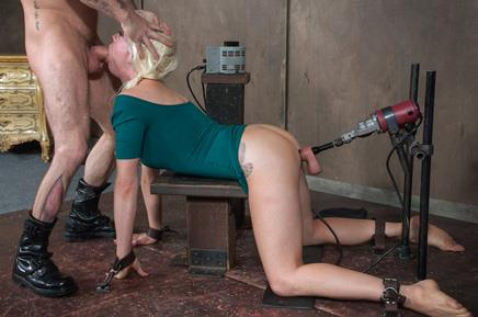SexuallyBroken.com - Lorelei Lee - Dec 9, 2016: Lorelei Lee, Bondage Legend, bound with a fucking machine in her ASS, while getting throat blasted! [HD 720p]