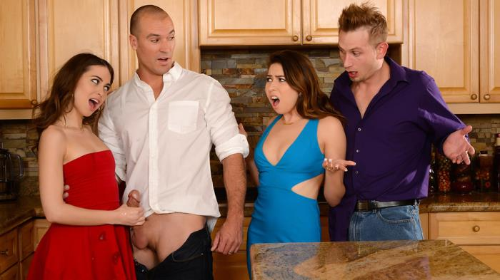 RealWifeStories/Brazzers: Melissa Moore, Riley Reid - Dinner For Sluts  [SD 480p]  (Big tit)