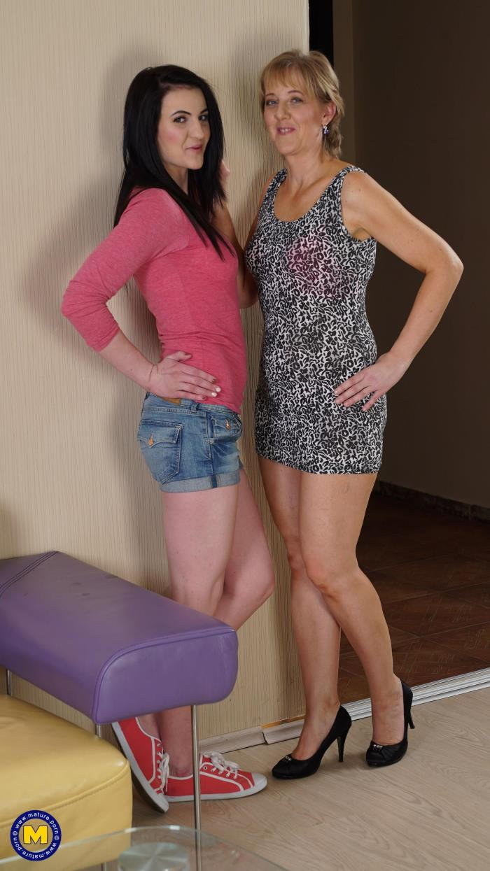 Mature.nl: Glynis (45), Marleigh (19) - 2 old and young lesbians playing with eachother (2016/FullHD)