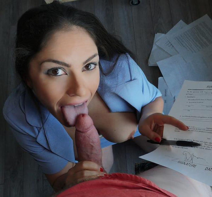 LatinaSexTapes: Marta La Croft - Big Tit Latina Blows Client [SD 398 MB]