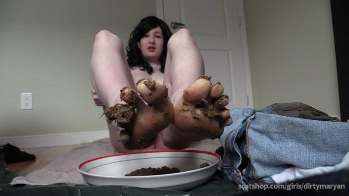 Eat my shit off my feet Foot fetish scat slave - Solo Scat (Scat Porn) FullHD 1080p