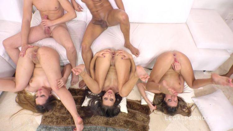 Maria Devine, Briana Bounce, Ally Breelsen & April Storm 5on4 orgy with DP & DAP RS220 / 05 Dec 2016 [LegalPorno / SD]