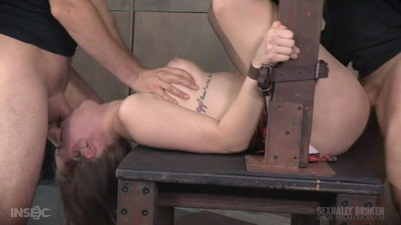 SexuallyBroken.com / RealTimeBondage.com: Nora Riley BaRS Part 3: Sexy Coed, gets brutally dicked down, hard throat fucking and squirt orgasms [SD] (219 MB)