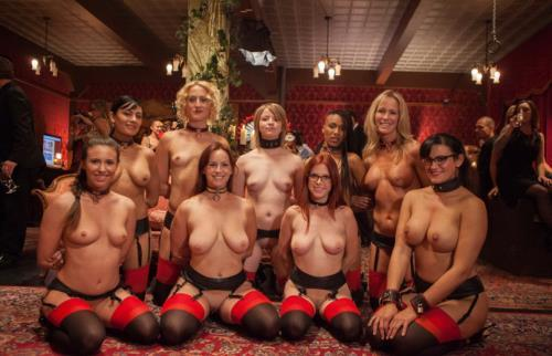 Masquerade Orgy with Nine Slaves, 100 Horny Guests - Part 1 / 07 Dec 2016 [TheUpperFloor / SD]
