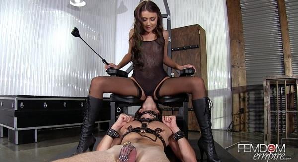 Adria Rae [FullHD FemdomEmpire.com] Chastised Cunt Licker