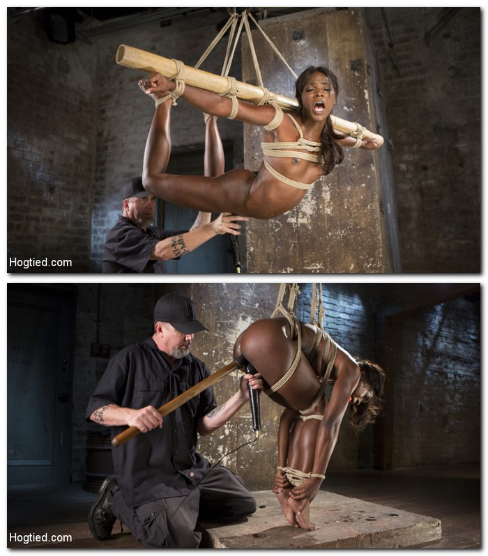 HogTied/Kink: Ana Foxxx - Stunning Ebony Slut in Brutal Bondage and Tormented  [SD 540p]  (BDSM)