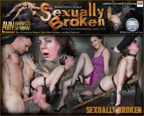 SexuallyBroken.com [Sierra Cirque get\'s the plank treatment, cock blasted from both ends, throated and made to cum!] HD, 720p