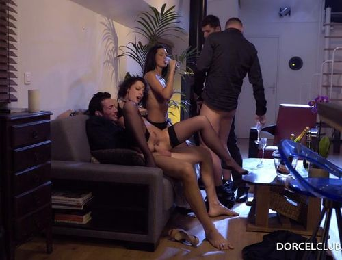 DorcelClub: Nikita Bellucci, Alexa Tomas - Nikita And Alexa, anal sex party with 3 men  [SD 540p]