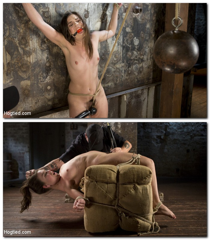 HogTied/Kink: Juliette March - Pain Pixie Suffers in Grueling Bondage, is Tormented, and then Made to Cum  [SD 540p]  (BDSM)