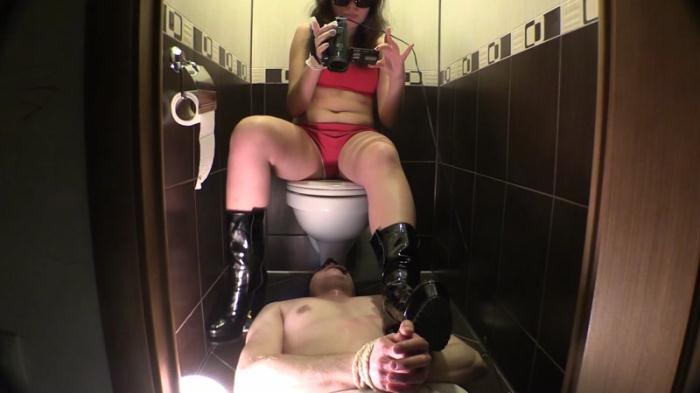 Miranda tortures the slave in toilet - Femdom Scat (Scat Porn) FullHD 1080p