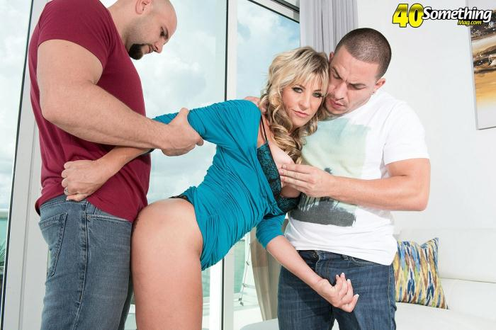 40SomethingMag: Brandi Fox - Two big cocks for Brandi Fox [FullHD 1.09 GB]