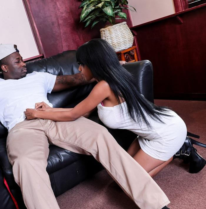 SheWillCheat: Brittney White - Lonely Black hot wife cheats on husband with the waiter  [HD 720p]  (Interracial)