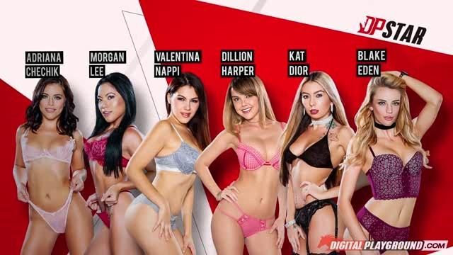 Valentina Nappi, Dillion Harper, Morgan Lee, Adriana Chechik, Blake Eden, Kat Dior - DP Star 3 Audition: Episode 5 / 09.01.2017 [DigitalPlayground / SD]
