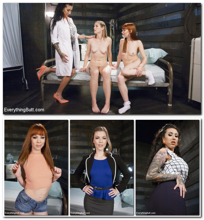 EverythingButt/Kink - Ella Nova, Lily Lane, Alexa Nova - DP with Giant Slink AND an ARM, The Novas are Anal Stars!  (540p / SD)