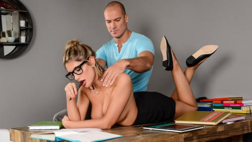 DirtyMasseur/Brazzers: August Ames - Study Buddies  [SD 480p]  (Big tit)