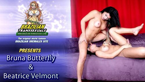 Brazilian-Transsexuals.com [Bruna Butterfly & Beatricy Velmont - Remastered] FullHD, 1080p