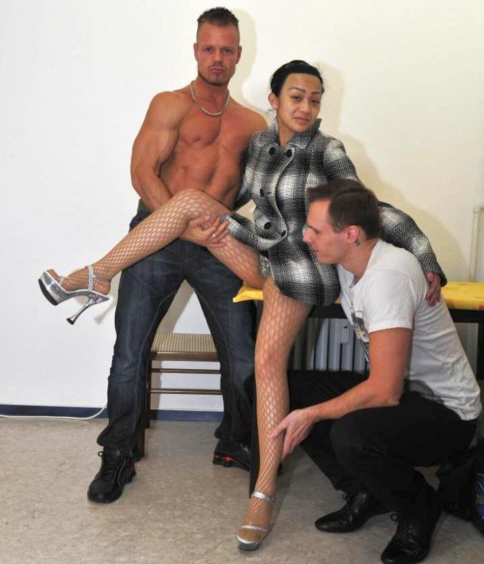 Mai N. - Hot German MMF threesome with hot pierced Asian brunette babe  [HD 720p]