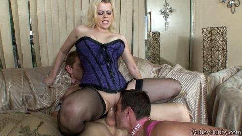 SubbyHubby.com [Little Miss Pink Gets Cucked Fucked And Eats Cum] HD, 720p