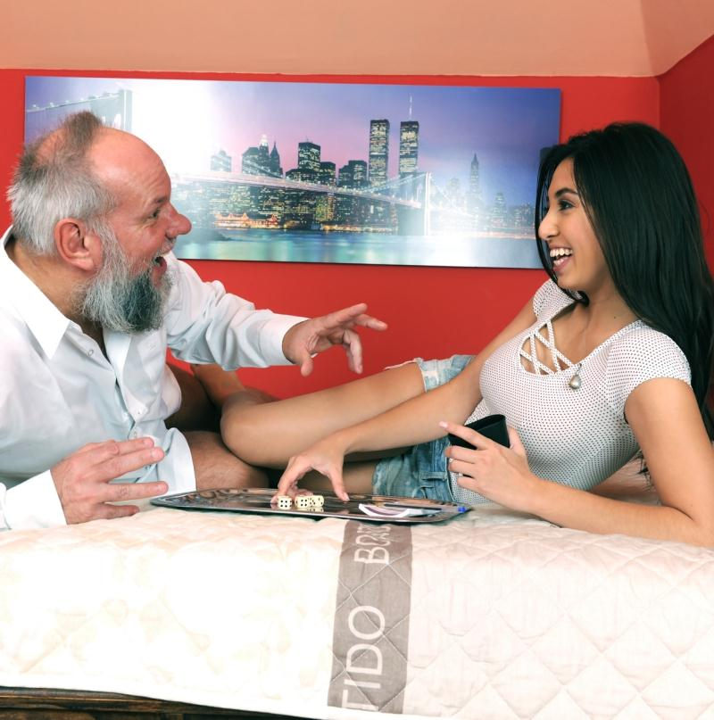 Frida Sante ~  Games with Grandpa  ~  GrandpasFuckTeens ~  HD 720p