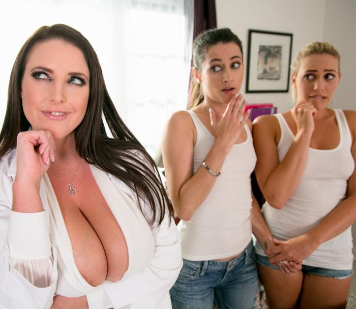 GirlsWay: Mia Malkova, Georgia Jones, Angela White - The Chiropractor: Part Two  [HD 720p]  (Lesbians)