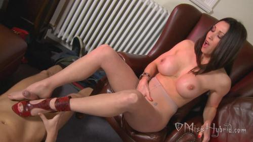 Misshybrid.com [Miss Hybrid - Pantyhose Foot Fun Handyman Huge Cock Cum] FullHD, 1080p