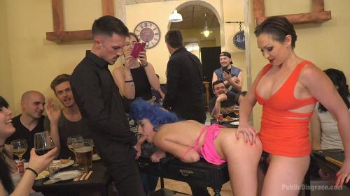 PublicDisgrace.com / Kink.com [Susy Blue & Yasmin Scott - Cute and Colorful Susy Blue is Begging to be Disgraced in Public] HD, 720p