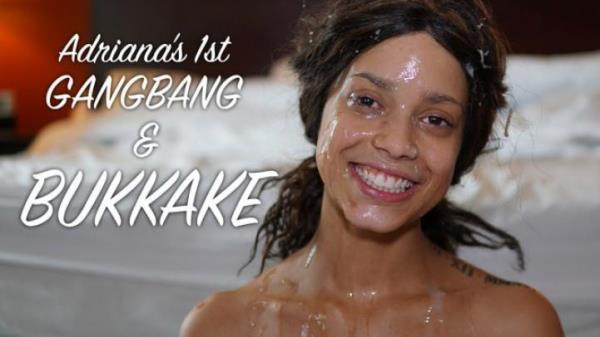 Adriana - Adriana's 1st Gangbang & Bukkake (ManyVids) [HD 720p]