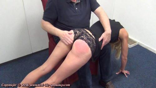 Jentina's first spanking [HD, 720p] [Real-Life-Spankings.com]