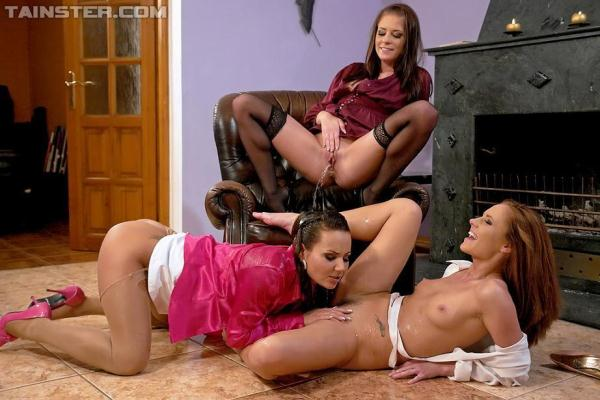 Nataly, Leony Aprill, and Zuzana Z - Three Total Hotties Acting Piss Naughty (HD 720p)