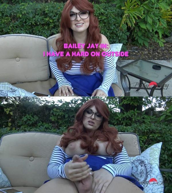TS-BaileyJay.com - Bailey Jay - I Have a Hard on Outside [HD 720p]
