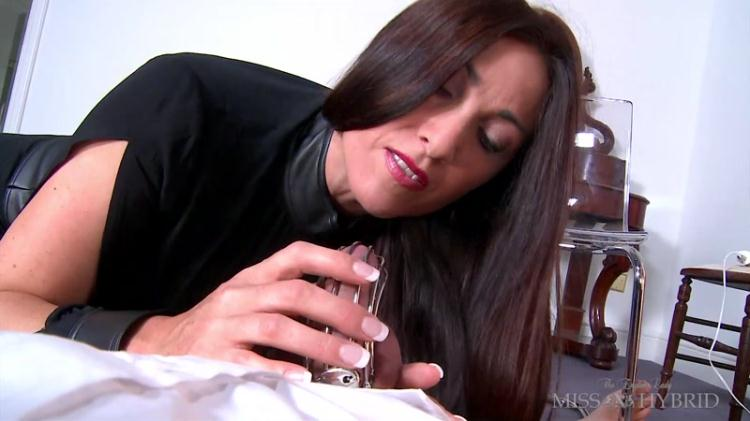 Kinky English Lady Miss Hybrid - Forced Orgasm In His Cock Cage [FullHD]