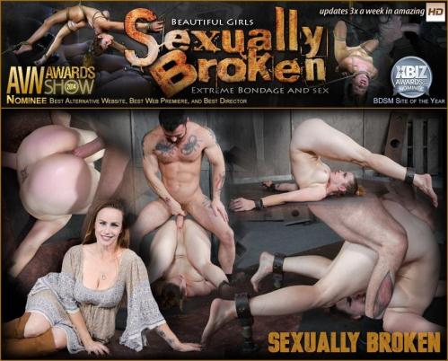 SexuallyBroken.com [Bella Rossi is brutally fucked while bound in a extreme pile driver, huge cock massive orgasms!] HD, 720p