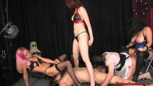 StraponSubmission.net [Mistress Jacklyn, Mistress Kendra - Pain Train] HD, 720p