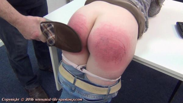 Shirly's first spanking - Real-Life-Spankings.com (FullHD, 1080p)