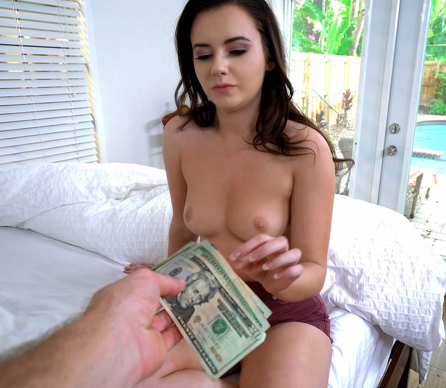 PublicPickUps/Mofos - Karlie Brooks - Shy Brunette Flashes Pussy [SD 480p]
