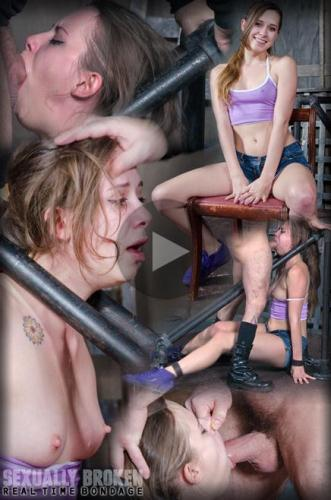SexuallyBroken.com [Zoey Laine BaRS Part 1: Stuck in a custom metal bondage piece, Zoey is faced fucked hard!] HD, 720p