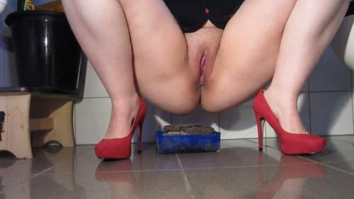 Fboom Scat [Red Pumps and large piles - Solo Scat] FullHD, 1080p